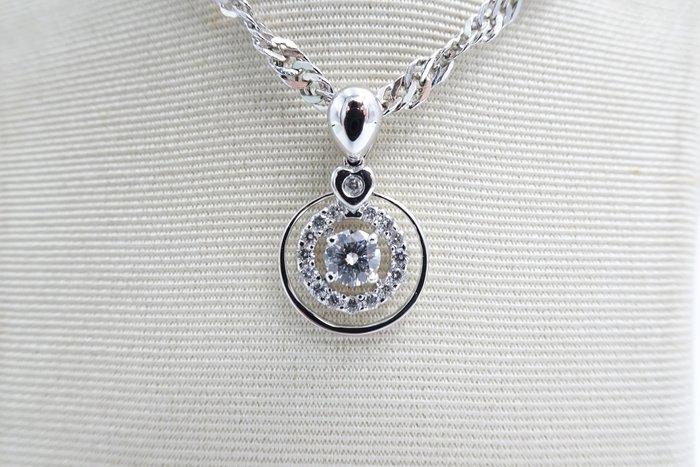 %玉承珠寶%天然30分GIA鑽石18k金三圈式設計墜子B097(貴金屬買賣.珠寶設計訂做.黃金買賣)主鑽售出