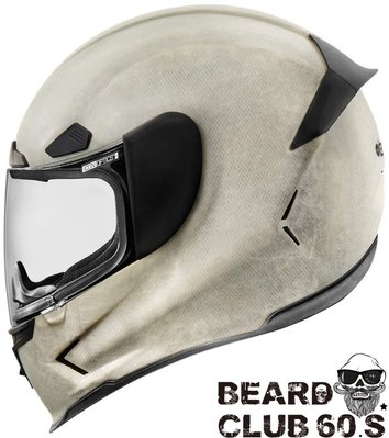 ♛大鬍子俱樂部♛ Icon® Airframe Pro Construct White 美國 街頭 重機 全罩 安全帽