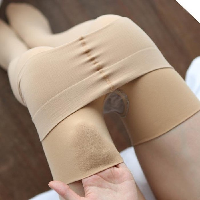 200D嬰兒絨連褲襪中厚防勾絲 襪子女微壓顯瘦肉色打底褲絲襪