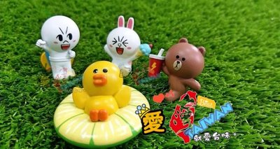 台味㊣台灣 LINE FRIENDS 茶湯會 限量 杯緣公仔組 全套四款(熊大 兔兔 莎莉 饅頭人)。全新。台灣限定。預購。不包運