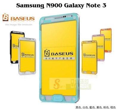 日光通訊@BASEUS原廠 Samsung N900 N9005 Note 3 倍思玻衣側掀皮套 全屏視窗 電池背蓋側翻保護套