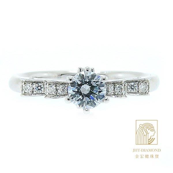 【JHT 金宏總珠寶/GIA專賣】婚戒/鑽戒 女鑽石戒台 (不含搭配主鑽)JRM033