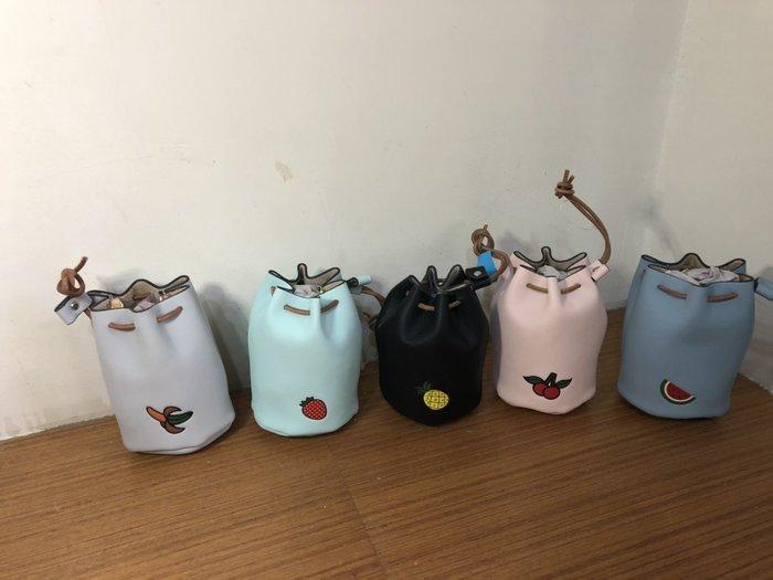 韓版可愛學生零錢迷你包水桶包