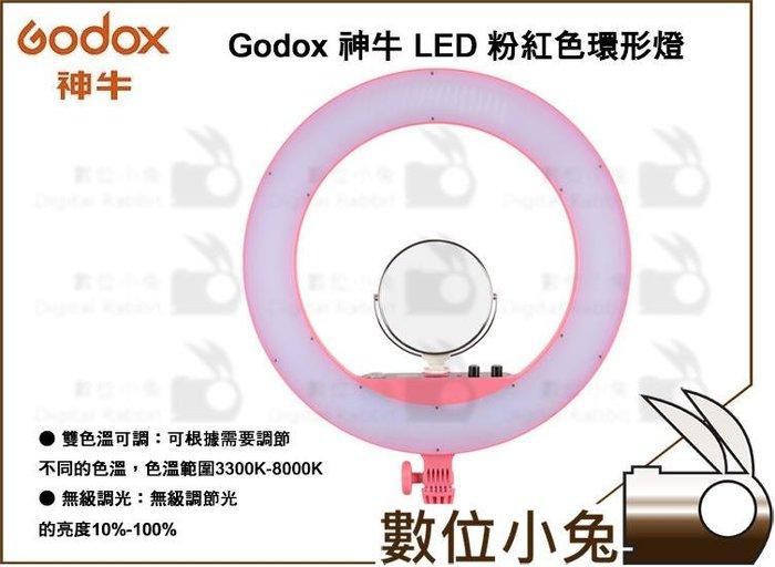數位小兔【Godox LED-LR160P 可調色溫 環形LED燈 粉紅色】自拍燈 打光燈 棚拍 LED環形補光燈