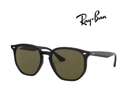 【珍愛眼鏡館】RAY BAN 雷朋 亞洲版 時尚偏光太陽眼鏡 RB4306F 601/9A 黑框墨綠偏光鏡片 4306