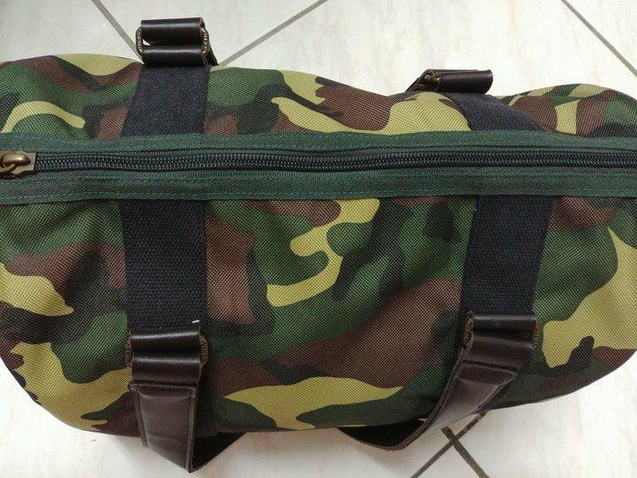 二手HIRES軍綠色迷彩托特包波士頓包手提包肩背包 出清 JYUN'S 現貨