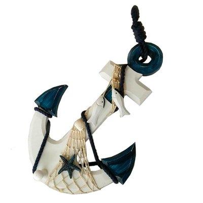 32CM 多款鐵鏈錨溫度計裝飾 地中海風格墻面裝飾船錨壁掛鐵錨壁飾