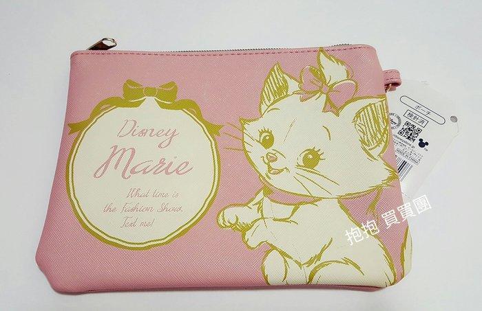 ❤日本迪士尼限定直送❤粉紅插畫瑪莉貓化妝包/手拿包/萬用包