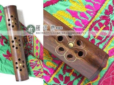 @~薩谷娜民族風:印度純手工製作_大盒_梅花圖木頭雕刻香盒 _線香/塔薰香專用!