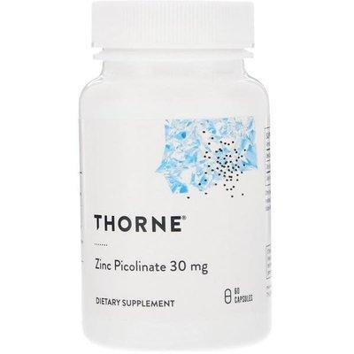 Thorne Research, 雙效 鋅(吡啶甲酸鋅),30毫克,60粒素食(明星品牌,美國)*百合麻雀*