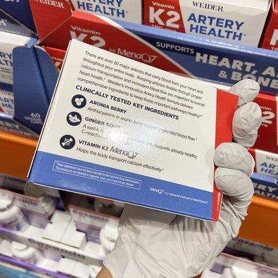 【貓兒美國代購】美國直郵 Weider Artery Health 維生素K2姜根莓果萃取物 60粒