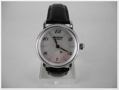 MontBlanc STAR 萬寶龍 107119 明星系列機械腕錶 36mm 盒裝 8.5成新│5A060