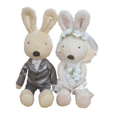 尼德斯Nydus~* 日本正版 le sucre 法國兔 砂糖兔 結婚禮盒 娃娃 絨毛玩偶 公仔
