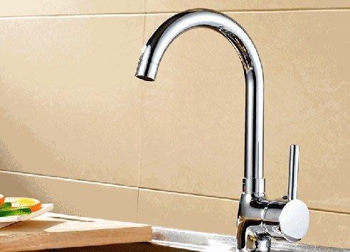 全銅無鉛厨房水龍頭菜盆龍頭 冷热立式旋轉水槽水龍頭+2條進水管