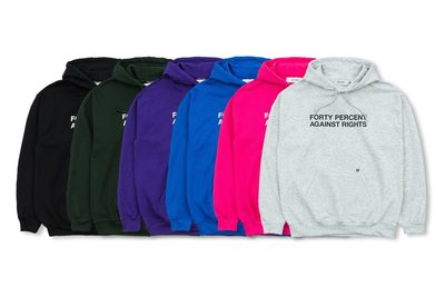 (A.B.E)FORTY PERCENT AGAINST RIGHTS (FPAR) SS19 SINCE HOODIE 六色