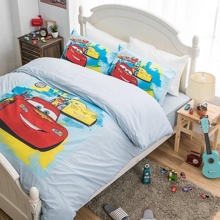 床包被套組 / 雙人【Cars閃電麥坤旅行篇】含兩件枕套  人氣卡通授權  混紡精梳棉  戀家小舖台灣製ABE212