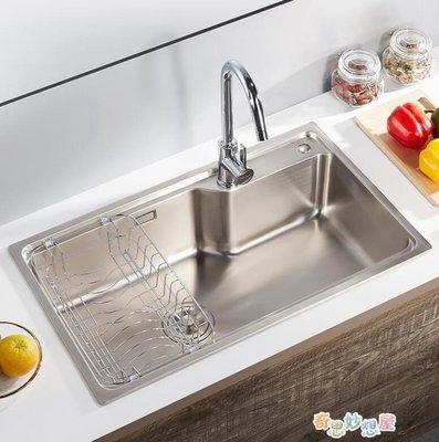 水槽九牧廚房水槽套裝單槽家用304不銹鋼洗碗洗菜盆加厚水池菜盆水斗【快速出貨】