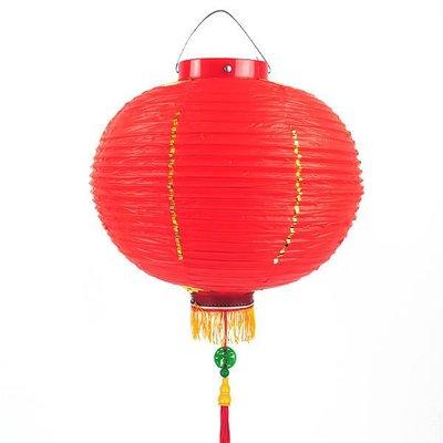 14吋大紅燈籠 (福字吊飾)PVC塑膠燈籠‧年節裝飾.廟會宮燈.可開版印字.(高品質)