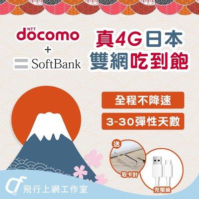 JK 日本吃到飽 15天 不降速 4G高速  DOCOMO 京阪神 沖繩 北海道 關西 九州  福岡  Softbank