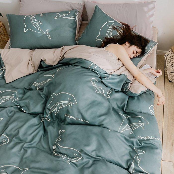 西柚姑娘雜貨鋪☛熱賣中#水洗棉四件套卡通風床上用品網紅款床單被套單人學生宿舍三件套