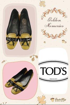 義大利名牌~【TOD'S】黃色舒適豆豆鞋 36號~GK