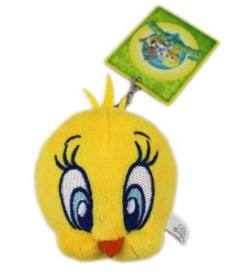 【卡漫迷】 Tweety 吊飾 ㊣版 迷你 絨毛 玩偶 裝飾品 鑰匙圈 掛飾 娃娃 崔弟 珠鍊 崔蒂 金絲雀 小黃鳥