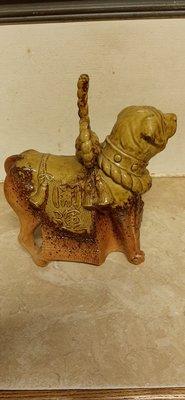 早期陶瓷擺飾,開運犬。