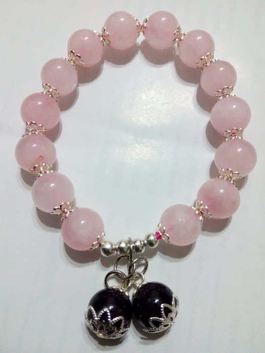 【九龍藝品】設計款水晶手珠 ~ 彈性線,珠子約10mm (6)