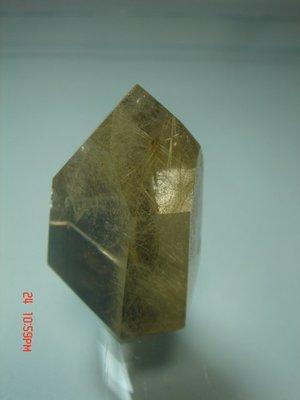 [家蓁小舖]天然鈦金髮晶柱(K18)