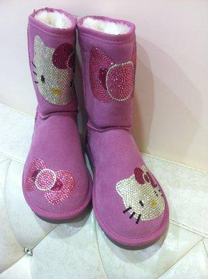 東京家族 Hello Kitty毛茸茸短靴-----粉紅色