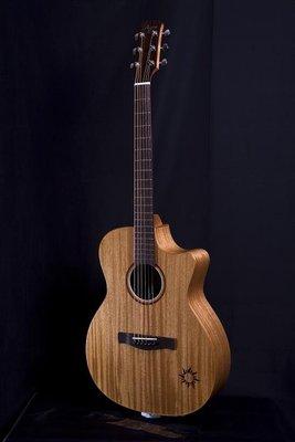 ☆金石樂器☆ Ayers To-03CE 小太陽 34寸 全單板 旅行吉他 電木吉他