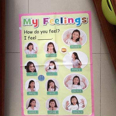 國小英語科教學海報·My feelings 個人感覺表述·翰林出版·教室佈置最佳素材