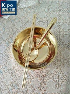 KIPO-熱銷5.5寸純銅餐具套件/加厚銅筷子銅碗銅勺金碗風水祭祀拜拜-CPG001134A
