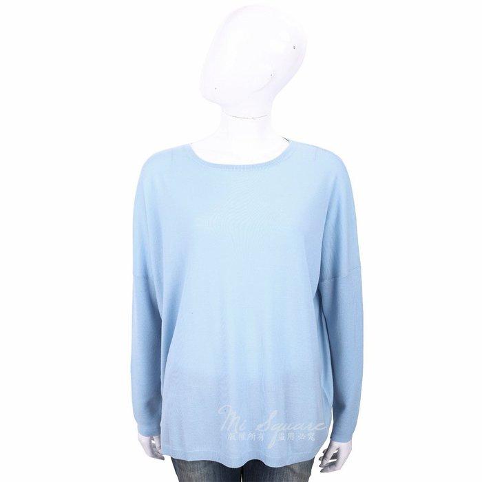 米蘭廣場 ALLUDE 100%羊毛水藍色圓領針織羊毛衫 1740251-27