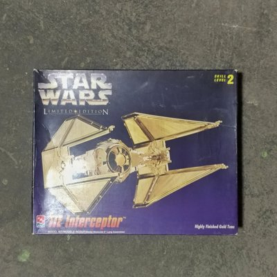 絕版  Star Wars Tie Fighter 金色電鍍 限定版 模型