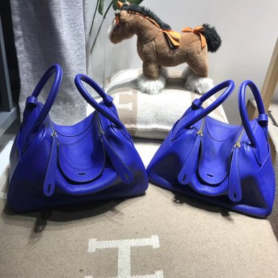 ❤️💖Hermes Lindy bag 30cm Togo 小牛皮 7T Blue Electric 電光藍  (1:1質素)❤️❤️