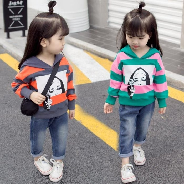 999童裝 女童春秋款套裝女寶寶1-3歲韓版洋氣兩件套新款4小童牛仔長袖01KK12