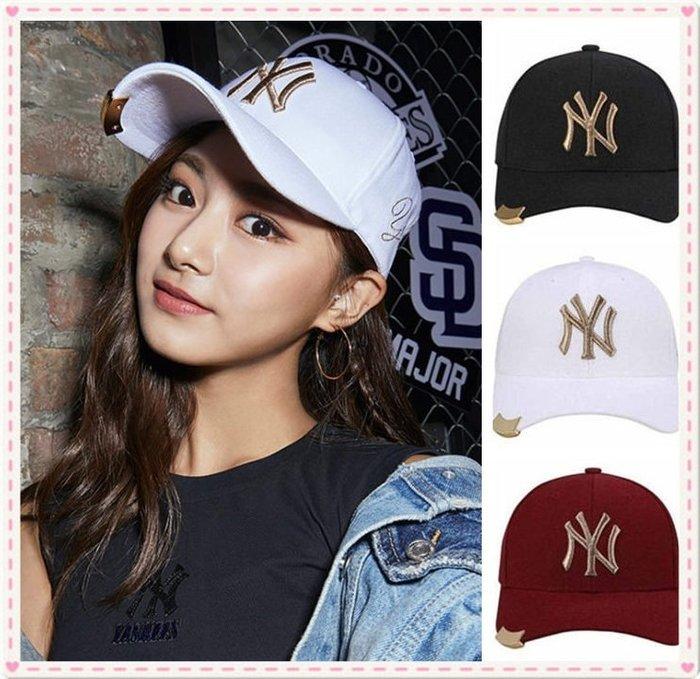 現貨免運** MLB 紐約洋基隊 棒球帽  金屬扣 周子瑜代言款