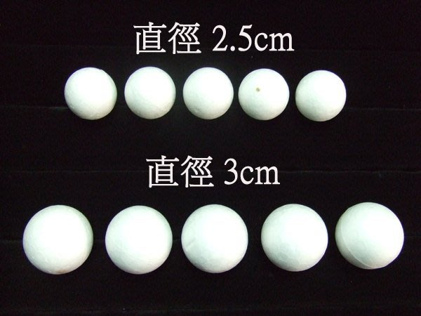 ☆創意小物店☆圓型保麗龍球2.5cm /小捧花材料/手工藝DIY(3元2顆)