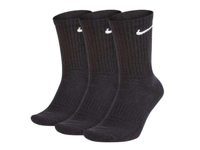 NIKE Everyday cushion 中筒襪 訓練襪 黑色 三雙一組 # SX7664-010