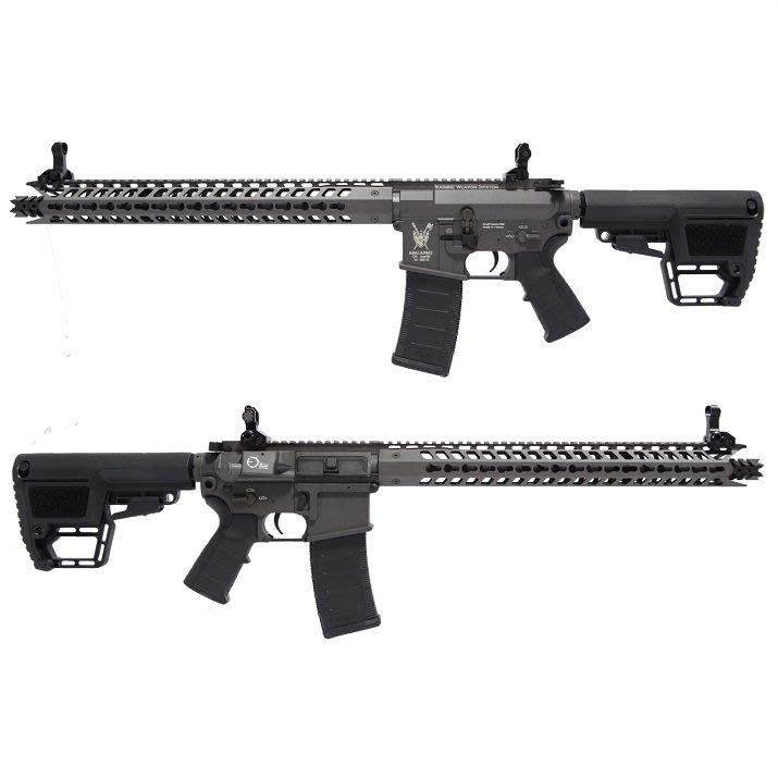 King Arms TWS M4 14吋 Keymod DINOSAUR 電動槍 灰色