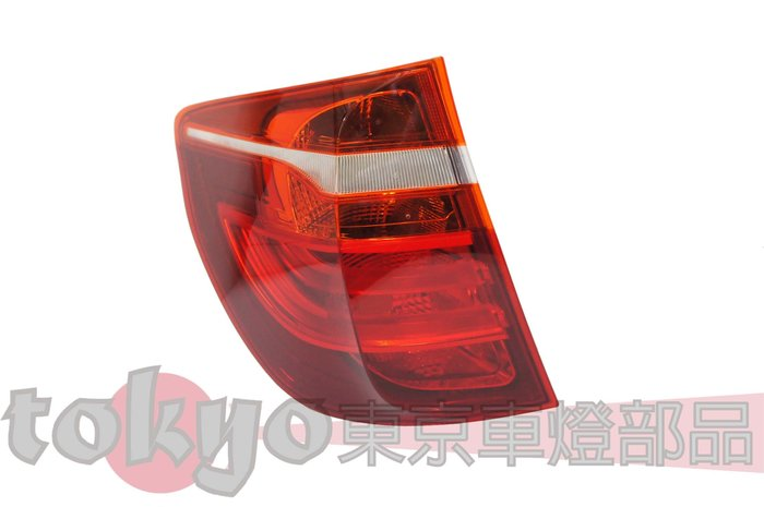@Tokyo東京車燈部品@BMW X3 F25 10 11 12 13 原廠型紅白尾燈 外側