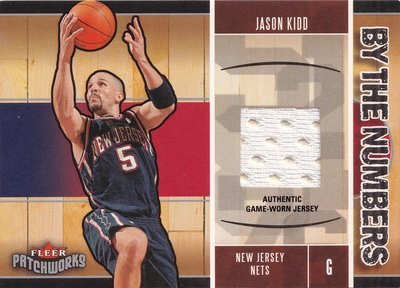 Jason Kidd 2003-04 By the Numbers 球衣卡
