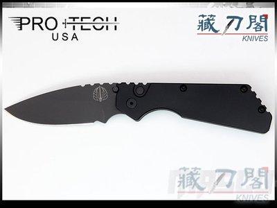 《藏刀閣》Protech-(2303)Pro-Strider PT緊湊版自動刀(黑柄/黑平刃)