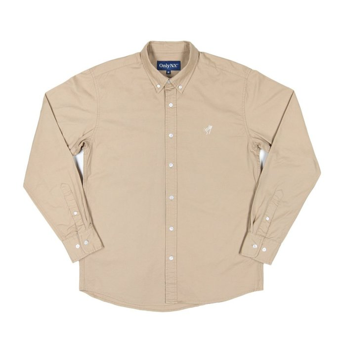 《 Nightmare 》ONLY NY OK Cotton Twill Shirt - Sand
