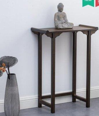 新中式玄關桌實木供桌現代簡約靠墻門廳櫃條案置物茶水櫃端景花台 范恩蓮恩免運 芳子良品