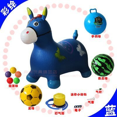 玩具跳跳馬兒童充氣玩具音樂橡皮馬加大加...