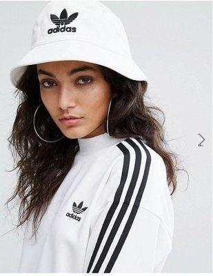 FOCA ☆ ADIDAS ORIGINALS 愛迪達 基本款 白黑 男女 LOGO 三葉草 漁夫帽 白色 bk7350