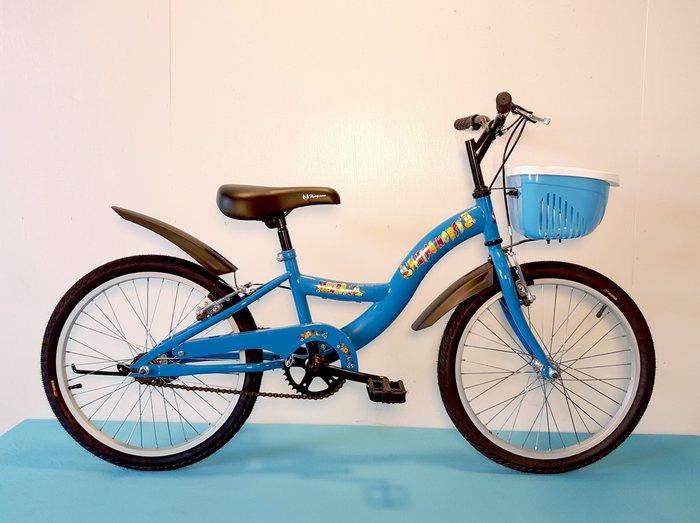 20吋單速S型兒童腳踏車 (藍、粉色)