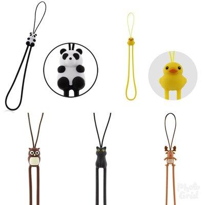 Bone防刮彈力吊繩 動物款 (熊貓 小鴨 貓咪 麋鹿 貓頭鷹 條碼貓 六款可選擇.